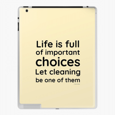 Life is Full Savvy Cleaner Funny Cleaning Gifts Ipad Case