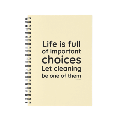 Life is Full Savvy Cleaner Funny Cleaning Gifts Spiral Notebook