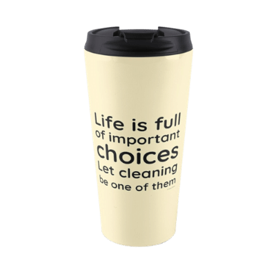 Life is Full Savvy Cleaner Funny Cleaning Gifts Travel Mug