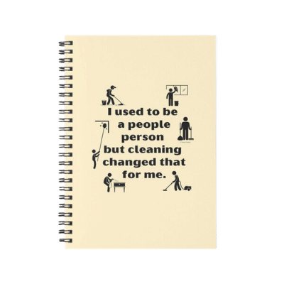 People Person Savvy Cleaner Funny Cleaning Gifts Spiral Notebook