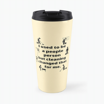People Person Savvy Cleaner Funny Cleaning Gifts Travel Mug