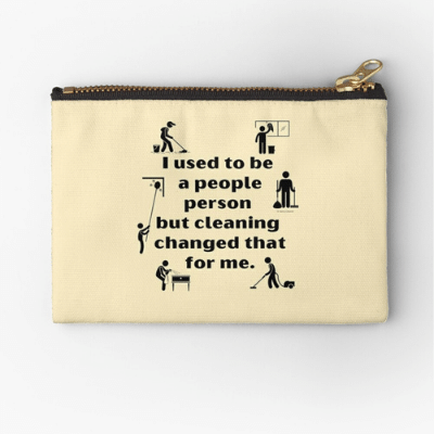 People Person Savvy Cleaner Funny Cleaning Gifts Zipper Pouch