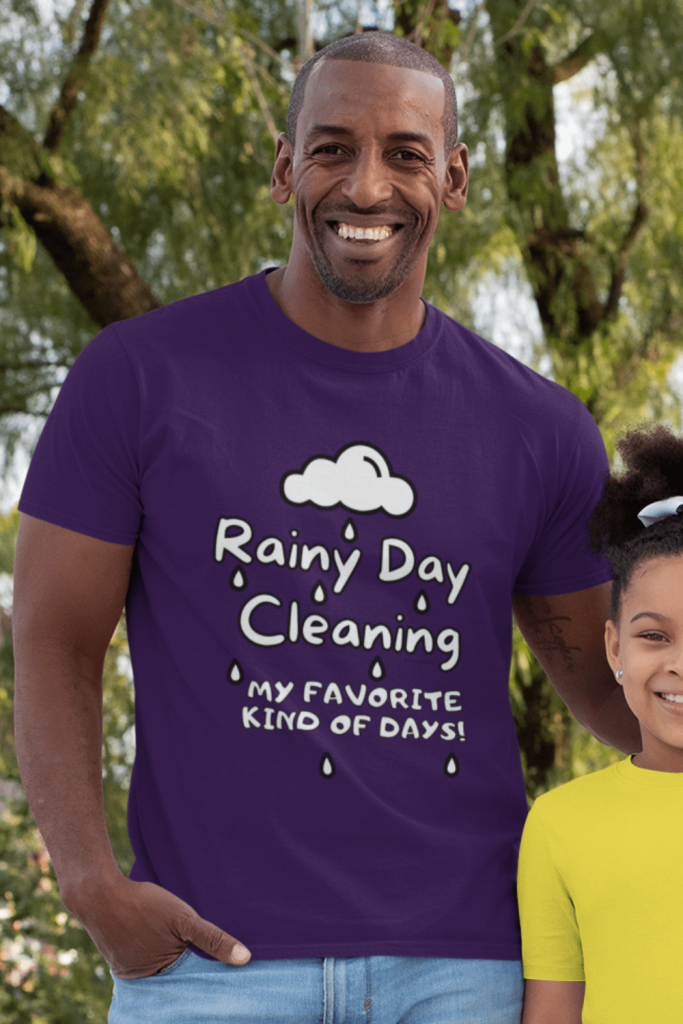 Rainy Day Cleaning Savvy Cleaner Funny Cleaning Shirts Men's Standard Tee