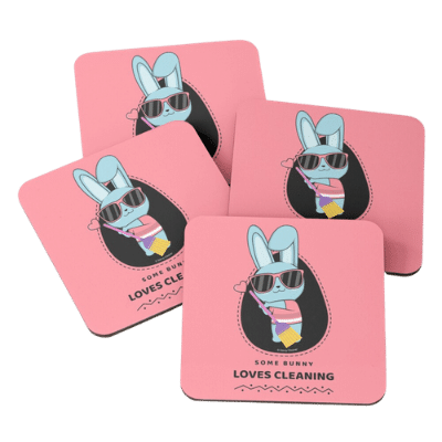 Some Bunny Loves Cleaning Savvy Cleaner Funny Cleaning Gifts Coasters