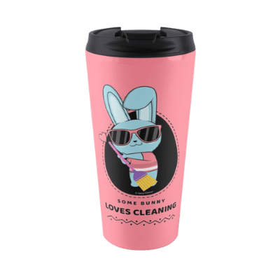 Some Bunny Loves Cleaning Savvy Cleaner Funny Cleaning Gifts Travel Mug
