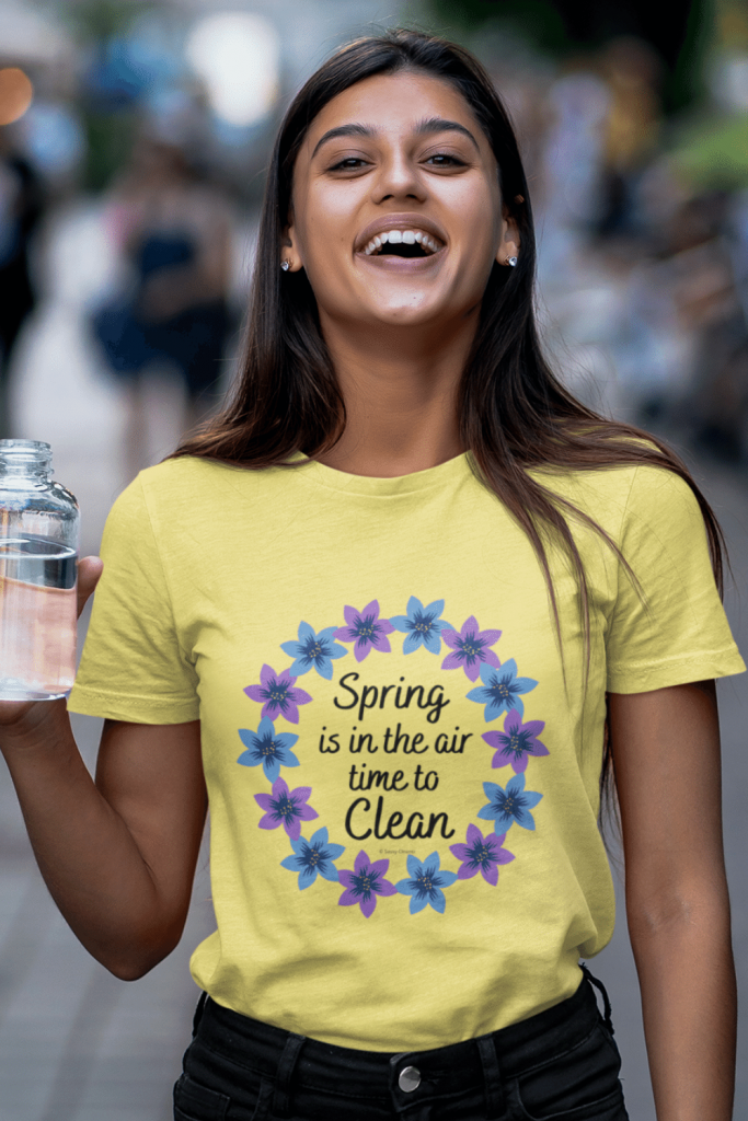 Spring Is In The Air Savvy Cleaner Funny Cleaning Shirts Women's Standard T-Shirt