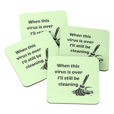 Still Be Cleaning Savvy Cleaner Funny Cleaning Gifts Coasters