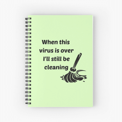 Still Be Cleaning Savvy Cleaner Funny Cleaning Gifts Spiral Notebook