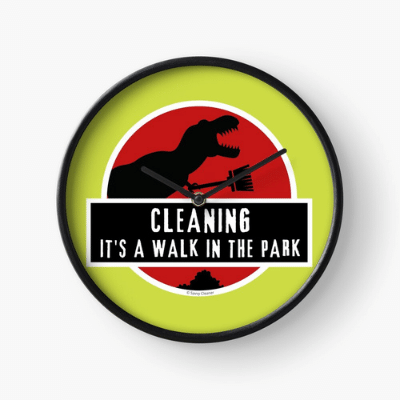 Walk in the Park Savvy Cleaner Funny Cleaning Gifts Clock