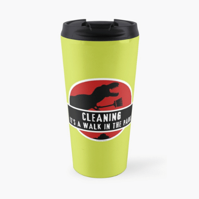 Walk in the Park Savvy Cleaner Funny Cleaning Gifts Travel Mug