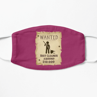 Wanted Poster Savvy Cleaner Funny Cleaning Gifts Facemask