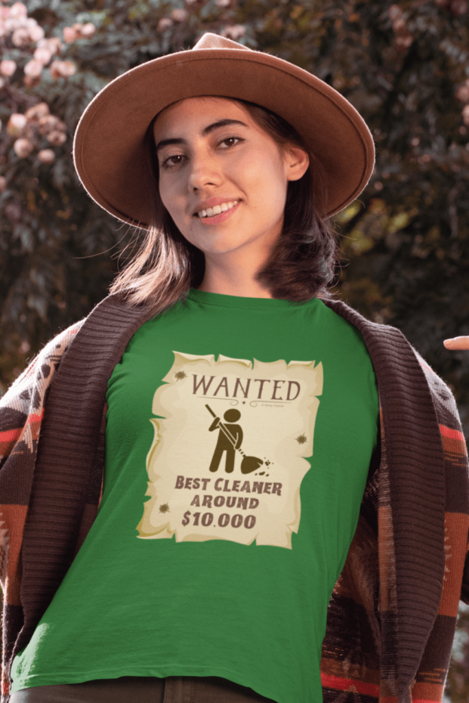 Wanted Poster Savvy Cleaner Funny Cleaning Shirts Standard T-Shirt