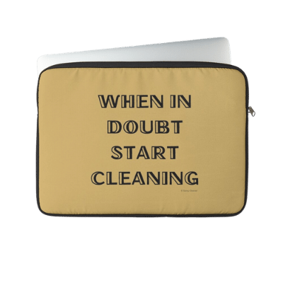 When in Doubt Savvy Cleaner Funny Cleaning Gifts Laptop Sleeve