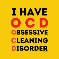22 I Have OCD Savvy Cleaner Funny Cleaning Shirts A