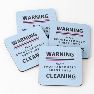 Burst Into Cleaning Savvy Cleaner Funny Cleaning Gifts Coasters