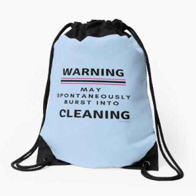 Burst Into Cleaning Savvy Cleaner Funny Cleaning Gifts Drawstring Bag