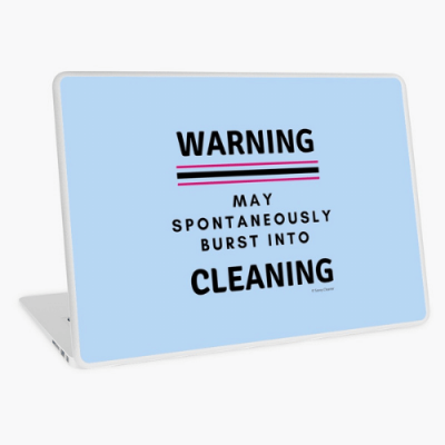 Burst Into Cleaning Savvy Cleaner Funny Cleaning Gifts Laptop Skin