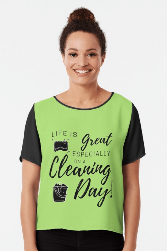 Cleaning Day Inspiration Savvy Cleaner Funny Cleaning Shirts Chiffon Top