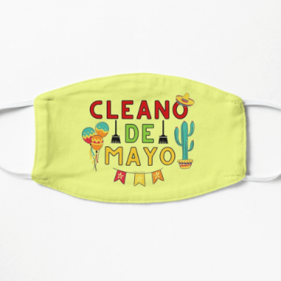 Cleano De Mayo Savvy Cleaner Funny Cleaning Shirts Face Mask