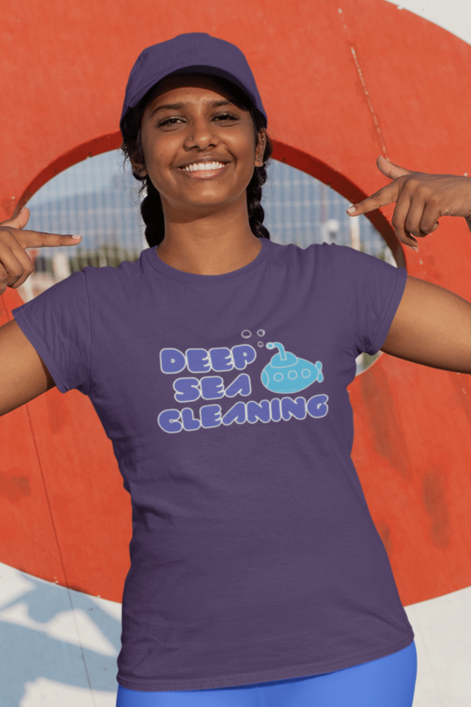 Deep Sea Cleaning Savvy Cleaner Funny Cleaning Shirts women's Standard Tee