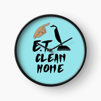 ET Clean Home Savvy Cleaner Funny Cleaning Gifts Clock