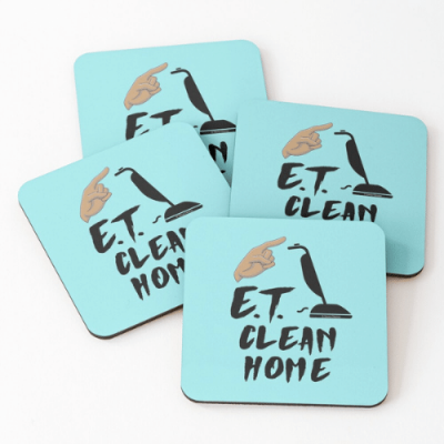 ET Clean Home Savvy Cleaner Funny Cleaning Gifts Coasters