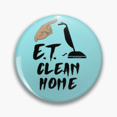 ET Clean Home Savvy Cleaner Funny Cleaning Gifts Pin