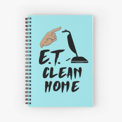 ET Clean Home Savvy Cleaner Funny Cleaning Gifts Spiral Notebook