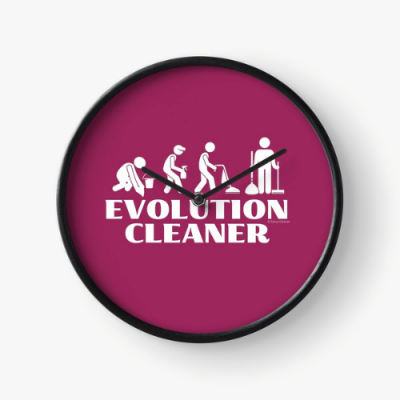 Evolution Cleaner Savvy Cleaner Funny Cleaning Gifts Clock