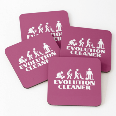 Evolution Cleaner Savvy Cleaner Funny Cleaning Gifts Coasters