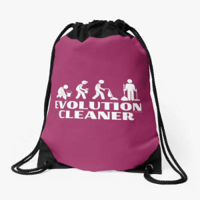 Evolution Cleaner Savvy Cleaner Funny Cleaning Gifts Drawstring Bag