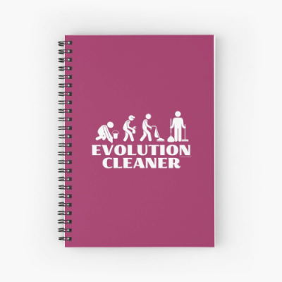 Evolution Cleaner Savvy Cleaner Funny Cleaning Gifts Spiral Notebook