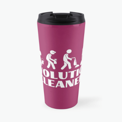 Evolution Cleaner Savvy Cleaner Funny Cleaning Gifts Travel Mug