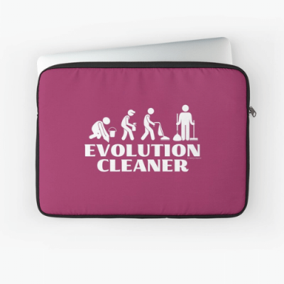 Evolution Cleaner Savvy Cleaner Funny Cleaning Gifts Zipper Sleeve