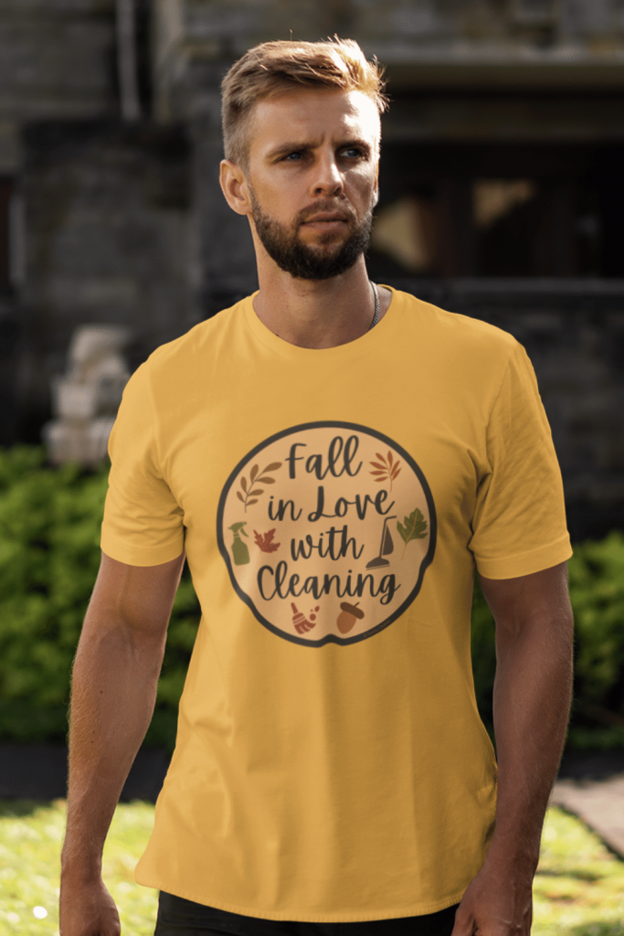 Fall In Love With Cleaning Savvy Cleaner Funny Cleaning Shirts Premium Tee
