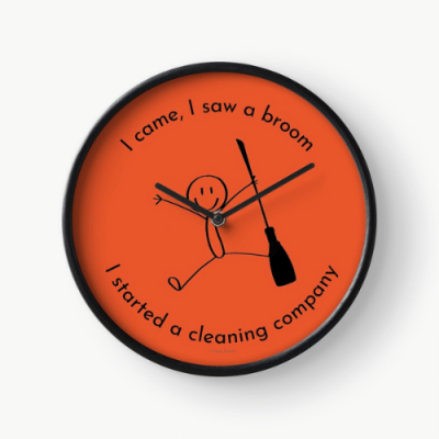I Started a Cleaning Company Savvy Cleaner Funny Cleaning Gifts Clock
