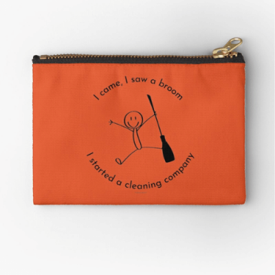 I Started a Cleaning Company Savvy Cleaner Funny Cleaning Gifts Zipper Pouch