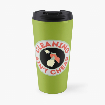 Retro Cleaning Ain't Cheap Savvy Cleaner Funny Cleaning Gifts Travel Mug