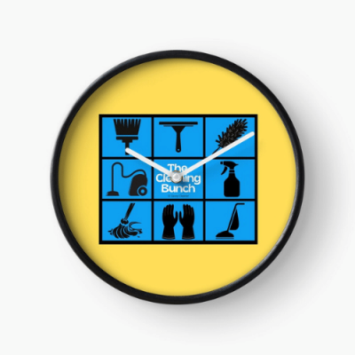 The Cleaning Bunch Savvy Cleaner Funny Cleaning Gifts Clock