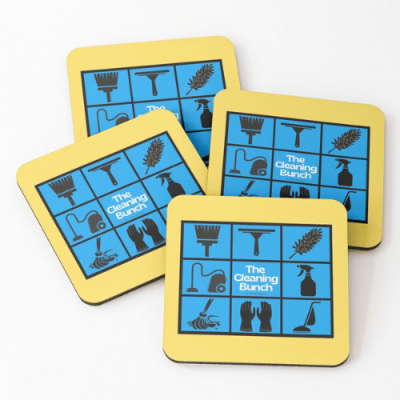 The Cleaning Bunch Savvy Cleaner Funny Cleaning Gifts Coasters