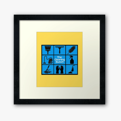 The Cleaning Bunch Savvy Cleaner Funny Cleaning Gifts Framed Art