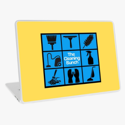The Cleaning Bunch Savvy Cleaner Funny Cleaning Gifts Laptop Skin