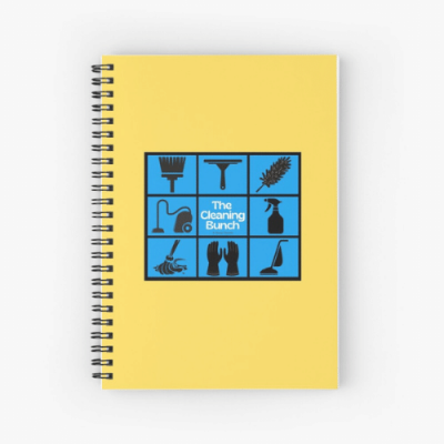 The Cleaning Bunch Savvy Cleaner Funny Cleaning Gifts Spirial Notebook