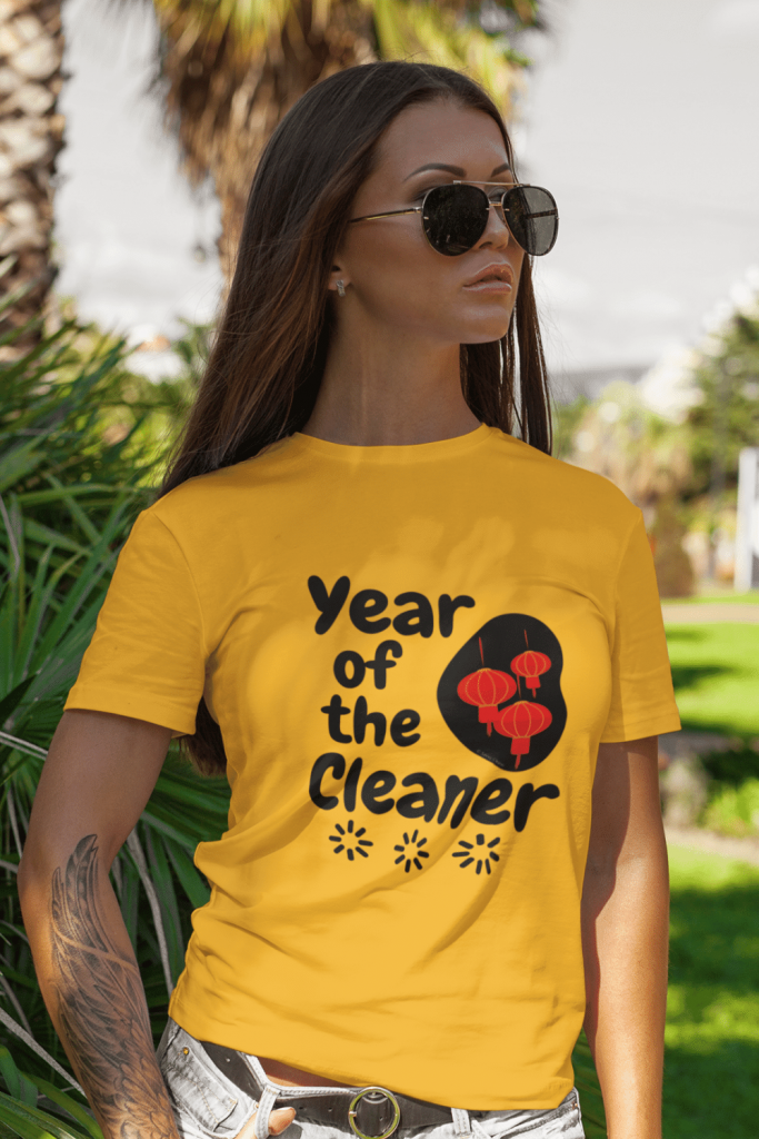 Year Of The Cleaner Savvy Cleaner Funny Cleaning Shirts Classic Tee