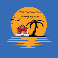 424 Wish You Were Here Savvy Cleaner Funny Cleaning Shirts A