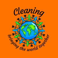 429 Bringing The World Together Savvy Cleaner Funny Cleaning Shirts A