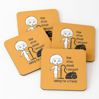 Asking for a Friend Savvy Cleaner Funny Cleaning Gifts Coasters