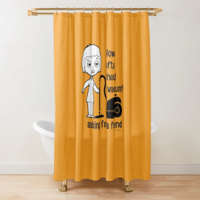 Asking for a Friend Savvy Cleaner Funny Cleaning Gifts Shower Curtain