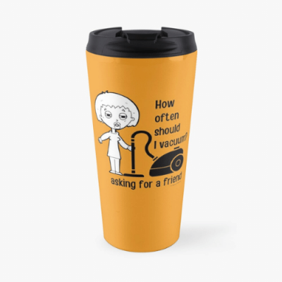 Asking for a Friend Savvy Cleaner Funny Cleaning Gifts Travel Mug