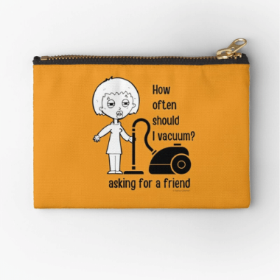 Asking for a Friend Savvy Cleaner Funny Cleaning Gifts Zipper Pouch